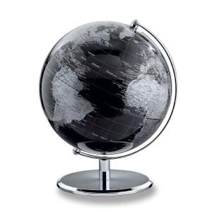 Globus Erde - EMFORM Globus PLANET-Reihe, D 240mm H 300mm, in verschiedenen Farben Darkchrome