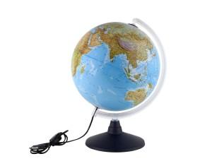 Globus für Kinder - Idena Leuchtglobus mit Halogen Energiesparlampe und zwei Kartenbildern