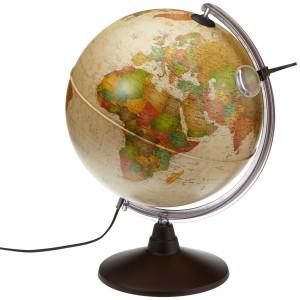 Globus beleuchtet - Idena geografischer Globus mit Licht und Lupe