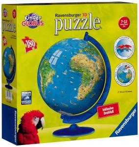 Kinder Globus - Ravensburger 12326 - XXL Kindererde Puzzleball - 180 Teile