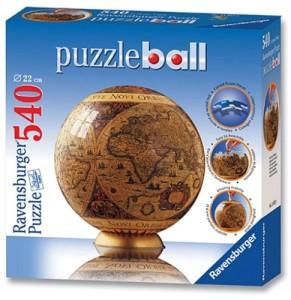 Kinder Globus - Ravensburger - Historische Weltkarte, 540 Teile Puzzleball