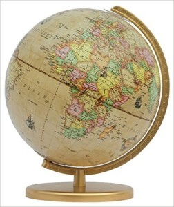 Globus antik - Columbus - Renaissance-Leuchtglobus-Durchmesser-goldfarben
